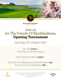 JOIN US FOR THE FRIENDS OF BLACKSEARAMA OPENING TOURNAMENT