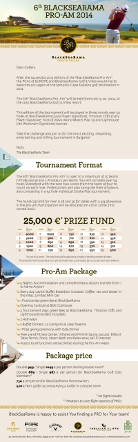 2014 BlackSeaRama Pro-Am Set to Be Biggest Yet