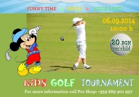 KIDS GOLF TOURNAMENT on September 6