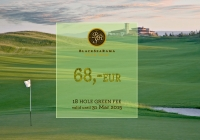 March course news: Special Green fee of 68 EUR