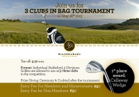 Upcoming Tournament:3 Clubs in bag on May,16th