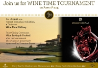 Upcoming tournament: Wine Time Golf on June, 14th
