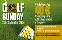 Course News: Special green fee on Sunday,20th September