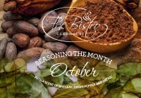 Culinary moments:October with a scent of bay leaf, green pepper and cacao
