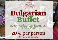 Taste Explorers: Bulgarian Buffet every Wednesday in August