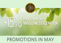 Wellness center and Pro Shop Promotions in May