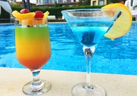 Summer cocktails at the Bell Tower Pool Bar