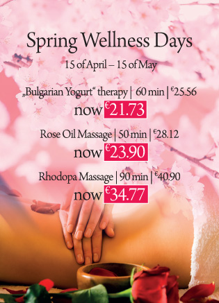 SPRING DAYS SPECIALS FROM 15 APRIL TO 15 MAY